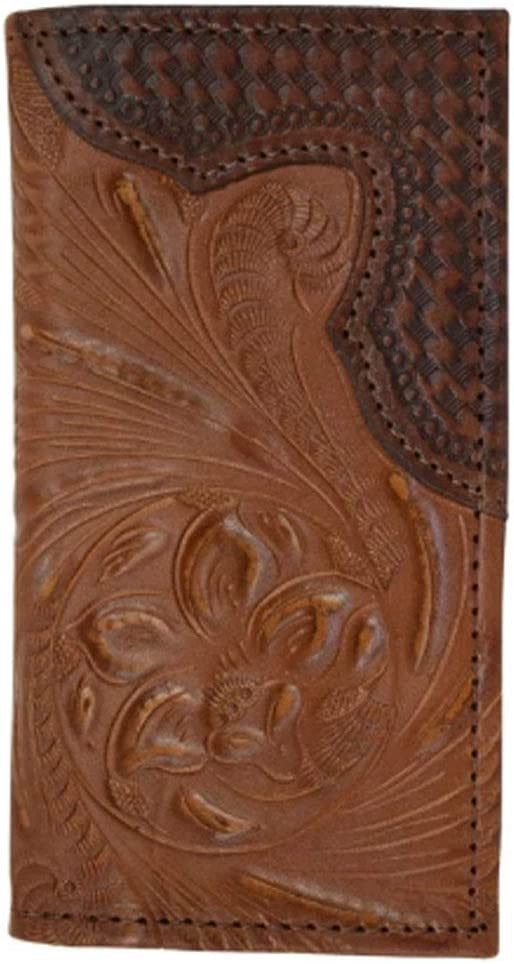 Genuine Leather Men's or Ladies Small Wallet ID CC Bills Handcrafted, Hand Tooled Cowhide (Black Guns 2 Fold)