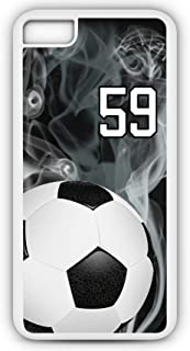 iPhone 8 Plus 8+ Phone Case Soccer SC015Z by TYD Designs in White Rubber Choose Your Own Or Player Jersey Number 59