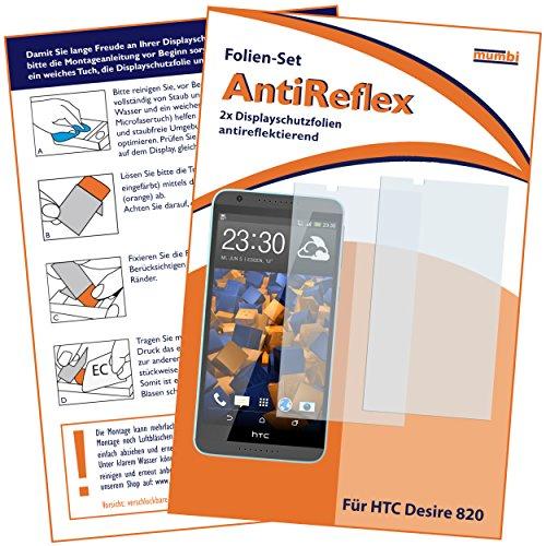 mumbi Schutzfolie kompatibel mit HTC Desire 820 Folie matt, Bildschirmschutzfolie (2X)