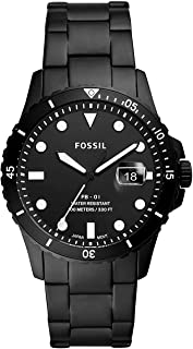 Fossil FB-01 Dive new collection heavy bracelet 42 mm case black stainless steel Analogue watch for Men