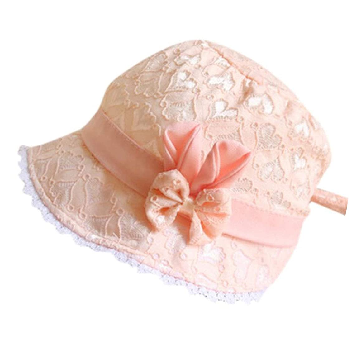 Pretty Baby Toddler Girls Summer Cute Cartoon Hat Infant Printing Cap Photography Props Lace Girl Hat,Orange