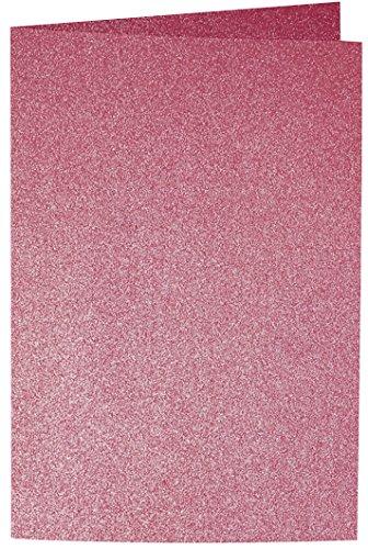 Artoz Papier AG - Doppelkarte Perle B6 5er-Pack Rot