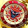 インビクタ 高級腕時計 マーベル IRONMAN アイアンマン アークリアクター ゴールド×レッド 世界限定 4000個
