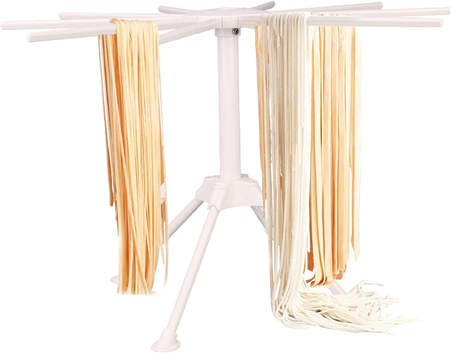 Pasta Drying Rack Noodle Stand with Collapsible Bar New life 10 Topics on TV Handles S