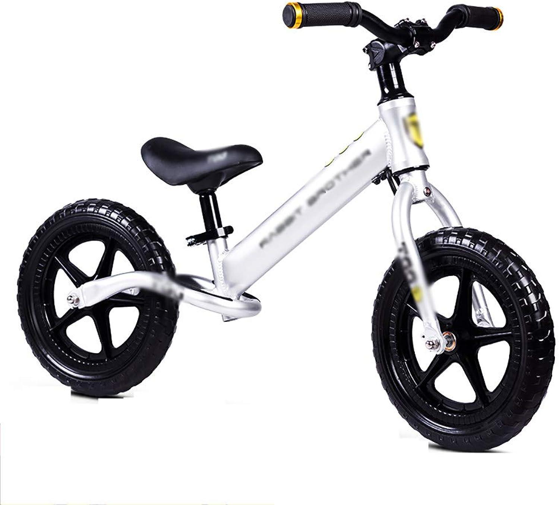 opciones a bajo precio WHTBOX 12 Balance Balance Balance Bike Alloy Bike,No Pedal,Walking,Balance Entrenamiento, Robusto,Niño,niña,Bicicleta para Niños y Niños de 2 a 6 años,plata  artículos de promoción