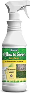 NaturVet – Yellow to Green Lawn Spray – Rids Lawn of Pet Urine Spots Immediately – Provides Instant Green Color – 32 oz