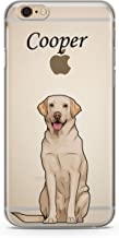 CodeiCases iPhone 5/5s/5SE Labrador Dog With Custom Name Clear Cover, Dog With Name Case Clear Transparent for iPhone