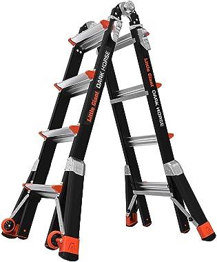 Little Giant Ladders, Dark Horse, M17, 9-15 Foot, Multi-Position Ladder, Fiberglass, Type 1A, 300 Lbs Weight Rating, (15147-0