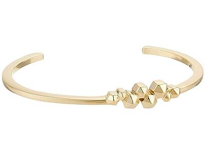 AllSaints Skinny Cuff Bracelet (Gold) Bracelet