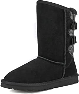 DREAM PAIRS Women's Mid Calf Fashion Winter Snow Boots