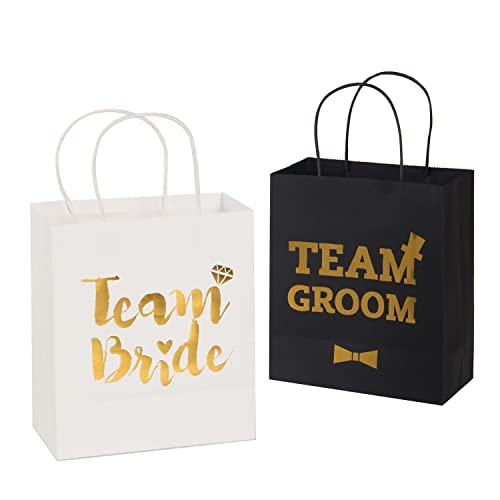 0fdbf4c38cbd Ling s moment Wedding Party Gift Bag Assortment - 6 Bridesmaid 6 Groomsmen  Gift Bags Kraft Paper