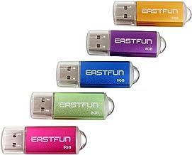 EASTFUN 5Pcs 8GB فلش USB فلش USB 2.0 فلش مموری استیک قلم چوب قلم (پنج رنگ مخلوط: گل رز صورتی بنفش سبز)