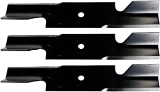 USA Mower Blades U11185BP (3) Extra High-Lift for Simplicity 5021227ASM Scag 482878 A48108 Length 18 in. Width 3 in. Thickness .200 in. Center Hole 5/8 in. 36in. 52 in. Deck