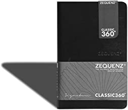 ZEQUENZ Signature 360 Notebook/Journal, Soft Flexible Cover, Mini (9x14cm), Handmade Premium Stationery with Magnetic Bookmark (Black, Blank Pattern, 85 sheets, White 100 grams)