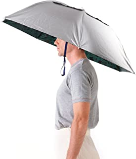 Luwint 36'' Diameter Adjustable Fishing Gardening Folding Umbrella Hat Headwear