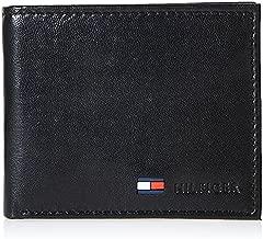 Tommy Hilfiger Men's Leather Slim Bifold Wallet with Coin Pocket, Black, One Size