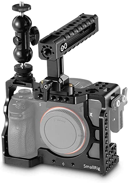 SMALLRIG Cage Kit Rig para A7RIII, Cage con Camera Top Handle y Magic Arm para Sony A7RIII / A7III - 2103