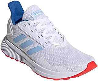 adidas Kid's Duramo 9 Boys Running Shoes Cloud White/Glow Blue/Active Red 2.5 Little Kid