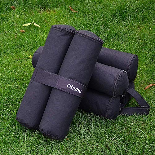 Ohuhu Canopy Weight Bags for Canopy Tent, Up to 115 LBS Capacity Sand Bags Leg Weights for Pop Up Instant Outdoor Sun Shelter Canopy Legs (Bags Only, Sand Not Included)