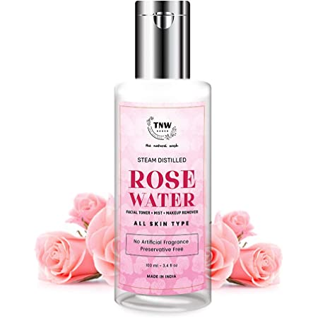TNW-THE NATURAL WASH Rose Water Face Toner/Skin Toner/Makeup Remover - For All Skin Types Women & Men (Free from Artificial Fragrance & Alcohol) - 100 ml