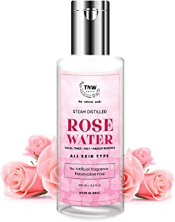 TNW-THE NATURAL WASH Rose Water Face Toner/Skin Toner/Makeup Remover - For All Skin Types Women & Men (Free from Artificia...