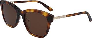 نظارة شمسية للنساء من كالفن كلاين، باللون البني، 55 ملم، طراز CK19524S