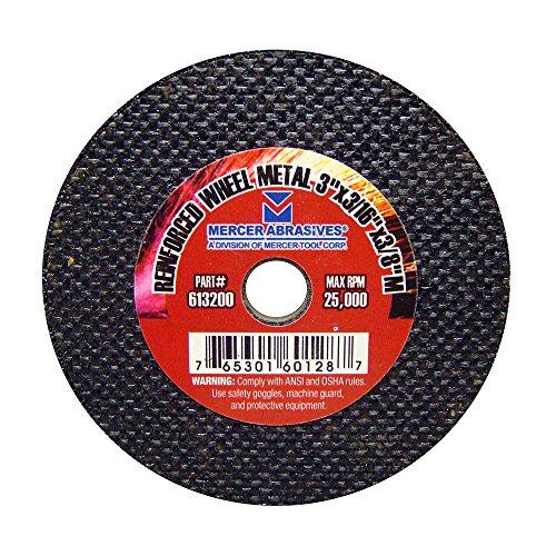 Mercer Industries 613200 Reinforced Metal Cut-Off Wheel for Metal, 3