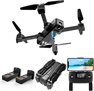 1.6km Far Range GPS Drone with 2K HD Camera Live Video, JJRC X11 5G WiFi FPV Foldable RC Quadcopter with Follow me, Smart Return Home, 40Mins Flight Time with 2 Batteries(20Mins + 20Mins)
