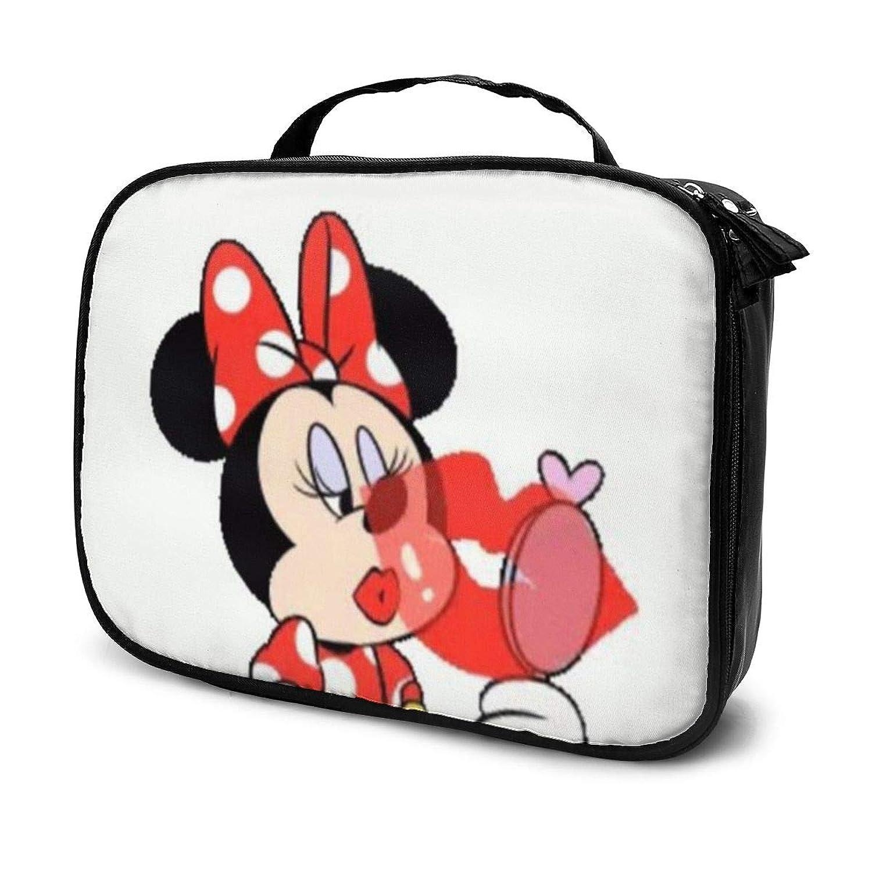 遺伝子フラップ弱点Daituメイクアップミニーマウス 化粧品袋の女性旅行バッグ収納大容量防水アクセサリー旅行