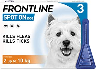 FRONTLINE Spot On Flea & Tick Treatment for Small Dog (2-10kg) 3 Pipettes