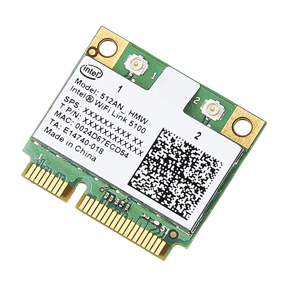 philosoper WiFi Card, Wireless Network Card 5100, 2.4 GHz and 5.0 GHz Spectra, Dual Band 300 Mbps, Mini PCI Express