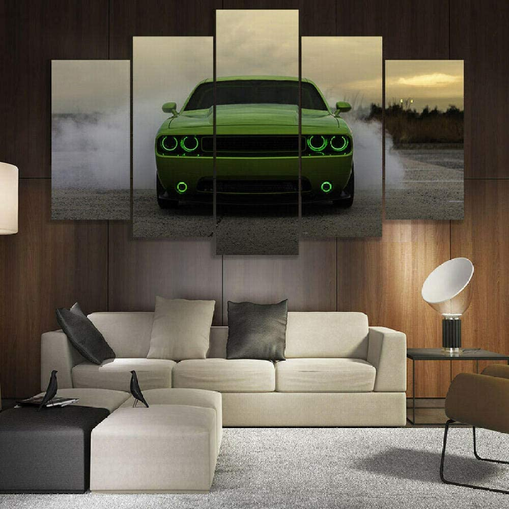 ADKMC 5 Piece New High quality new mail order Canvas Wall Art Challenger Dodge for Room M Living