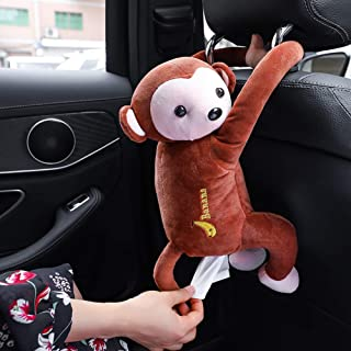 DAMEING Creative Monkey Tissue Box Cartoon Tissue Cover Paper Holder Napkin Box Paper Storage for Car Home Bathroom