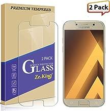 ZeKing [2-Pack Samsung Galaxy A5(2017) Tempered Glass Screen Protector 9H Hardness [Anti Scratch][Anti-Fingerprint] Bubble Free