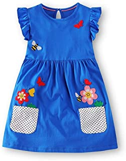 Baby Girls Dress Unicorn Party Summer Floral Dresses for Children Clothing Girl Princess Dress Kids Costumes