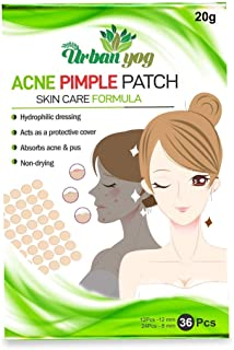 Urban yog Acne Pimple Patch - Invisible Facial Stickers cover with 100% Hydrocolloid, Pimple/Acne Absorbing patch (36 dots)
