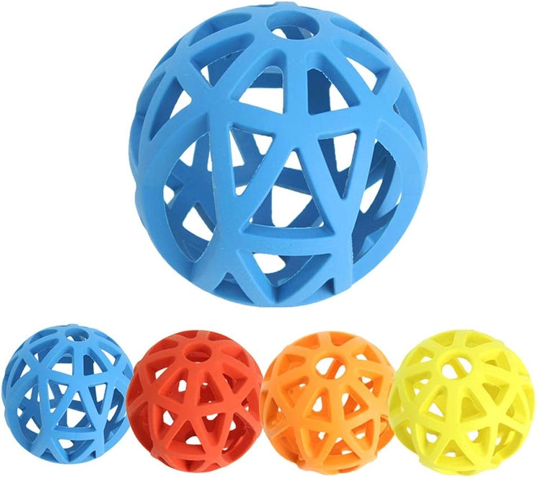 QYSZYG Pet Toys Dog Toys Educational Toys Molar Toys Leaking Food Balls Teeth Rubber Toys Two Sizes pet Toy (Size   9cm)