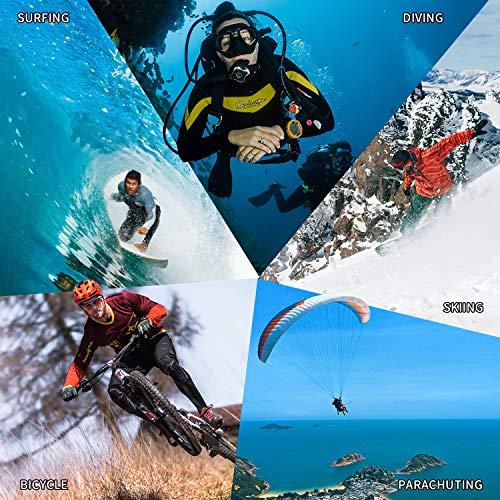 Campark X15 4K Action Cam Touchscreen EIS Stabilisierung WiFi wasserdichte Unterwasserkamera 30m Helmkamera 16MP mit 170 ° Ultra-Weitwinkel und viel Zubehör Kompatibel mit gopro - 6