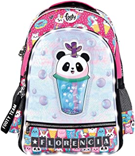 Mochilas Escolares para Niñas | Mochila con Dibujos de Panda para Infantil y Preescolar | Varios Compartimentos | Personalizable - Pon Tu Nombre con Las Letras