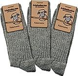 3 Paar Schafwollsocken - Socken aus 100prozent Schafwolle - naturwarm Größe 39/42