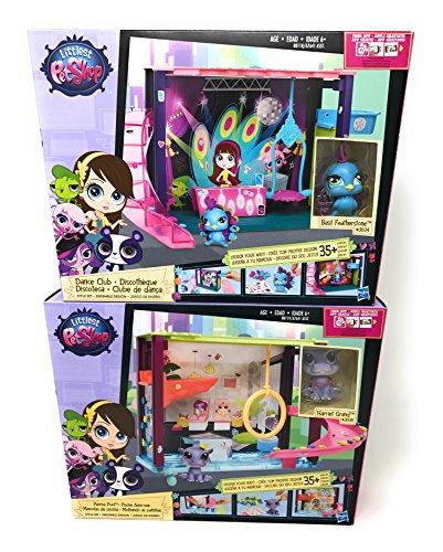 『Girl Toys Bundle Toys Littlest Pet Shop Dance Club Discoteca and Littlest Pet Shop - Style your Way Playset - Pawza Pool』のトップ画像