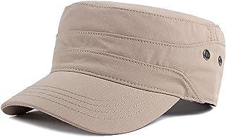 Universo Outdoor Sunshade Cap Cotton Caps Vintage Flat Top Cap Military Cap Casual Hat