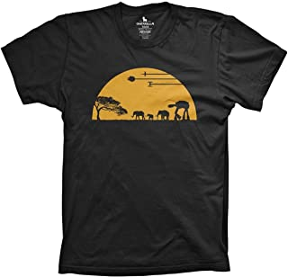 Guerrilla Tees at-at Movie Shirts Funny Tshirts Graphic Space tee, Black, 2X-Large