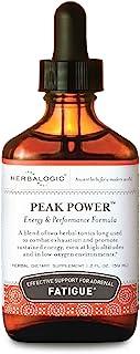 Herbalogic - Peak Power Liquid Herb Drops - Stimulant-Free Natural Energy Formula to Combat Adrenal Fatigue & Improve Phys...