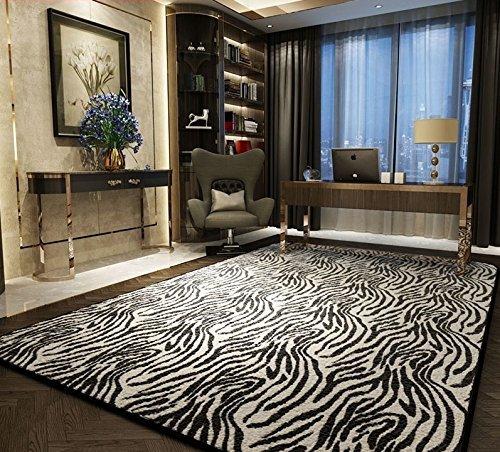 YANGFF-Tappeti Moda Bella e tappeti Confortevoli Creativo personalità Soggiorno Tendenza Tappeto del Salotto Moderno Tappeto Camera da Letto Zebra (Dimensioni : 1.6 * 2.0m)