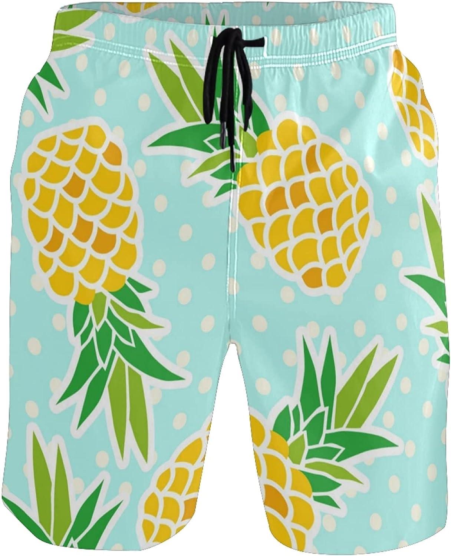 Pineapple Swim Trunks Men Funny, Fun Swim Trunks Guys Board Shorts,Pineapples AT342