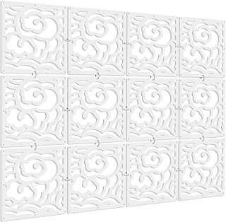 Kernorv DIY Room Divider Partitions Separator Hanging Decorative Panel Screens, 12 PCS Hanging Room Divider Partition Wall Dividers for Bedroom, Dining and Living Room, Sitting Room, Office