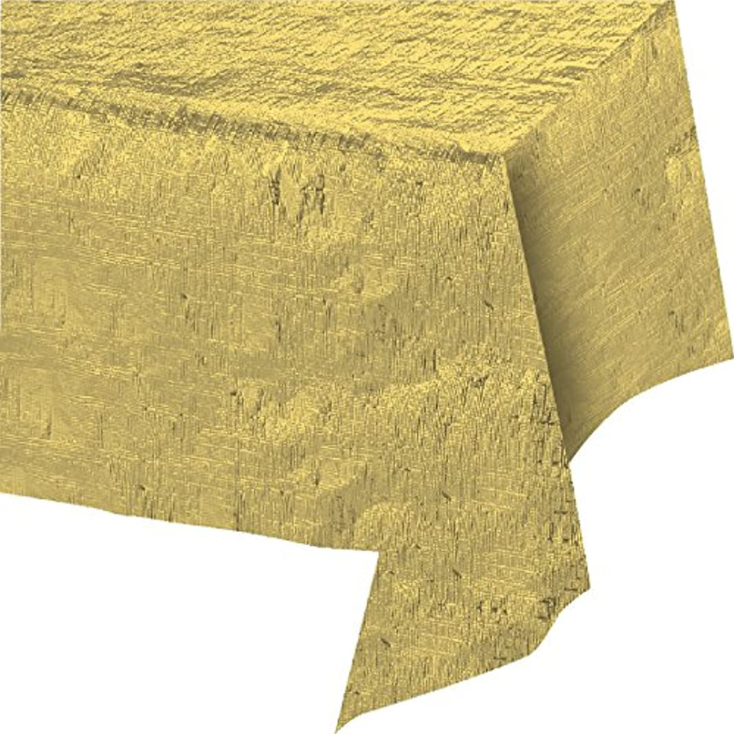 Creative Converting 38321 Tablecover, 0.1x108x54inc, Gold