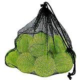 Philonext 12 PCS pelotas de tenis con bolsa de malla de transporte, bolas de tenis sin presión bolas de práctica jugando con mascotas deportes bolas de cubo para el transporte fácil