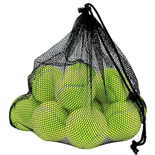 Philonext 12 Stück Tennisbälle mit Mesh Tragetasche Tennisbälle fürs Training, Tennis übungs Ball mit Mesh Tragetasche, ideal für Tennis-Unterricht, Training, Ballmaschinen und auch als Spielgerät